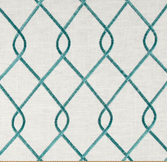 Curtains 1 Pair Draperies Window Treatments Aqua Curtains Duralee Rico Aquau2026