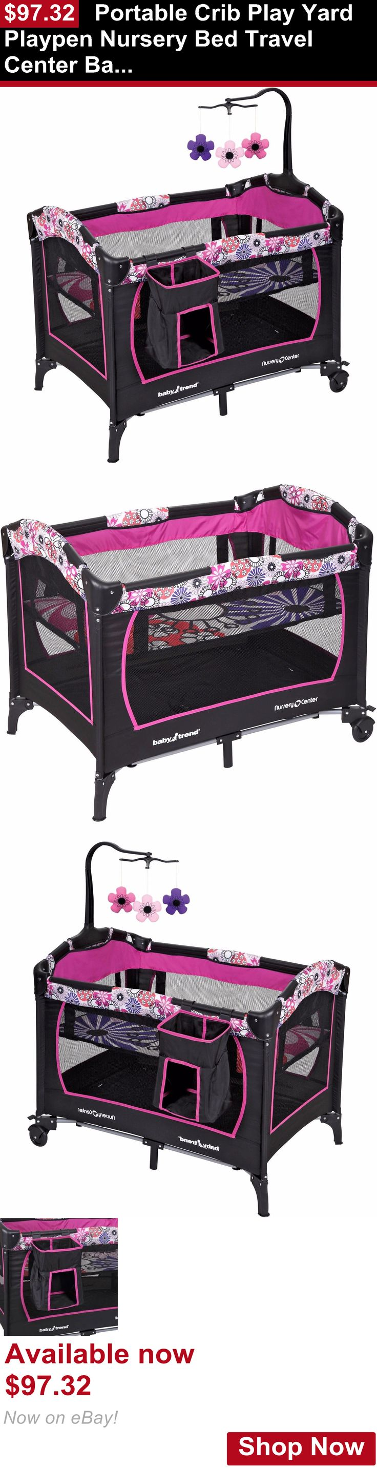 Baby Play pens and play yards: Portable Crib Play Yard Playpen Nursery Bed Travel Center Baby Toddler Safety BUY IT NOW ONLY: $97.32