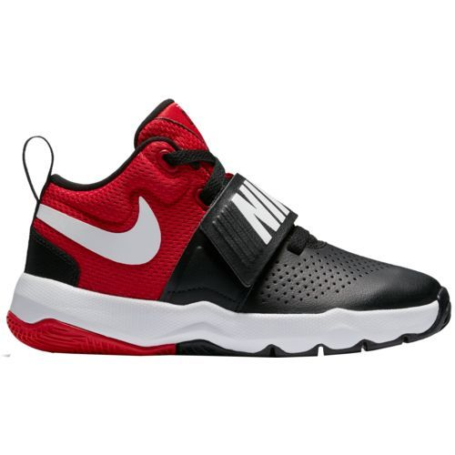 Nike Boys' Team Hustle Basketball Shoes (Black/White/University Red, Size 2) - Youth Basketball Shoes at Academy Sports