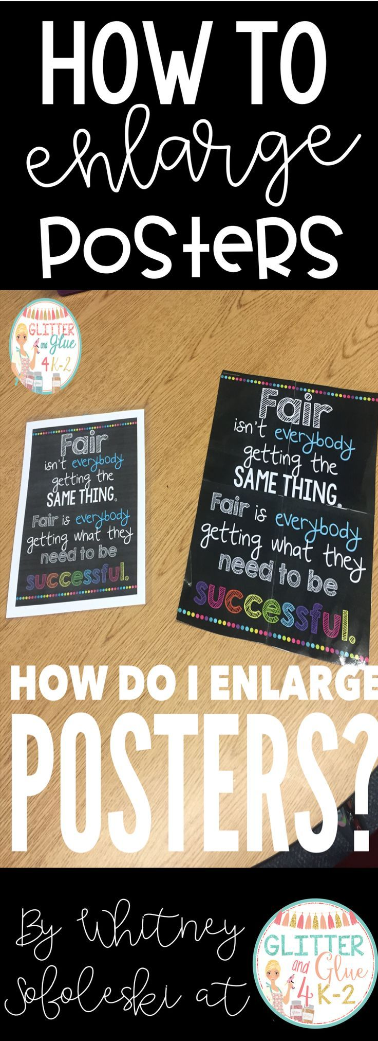 Great tutorial on how to enlarge posters for your classroom! .