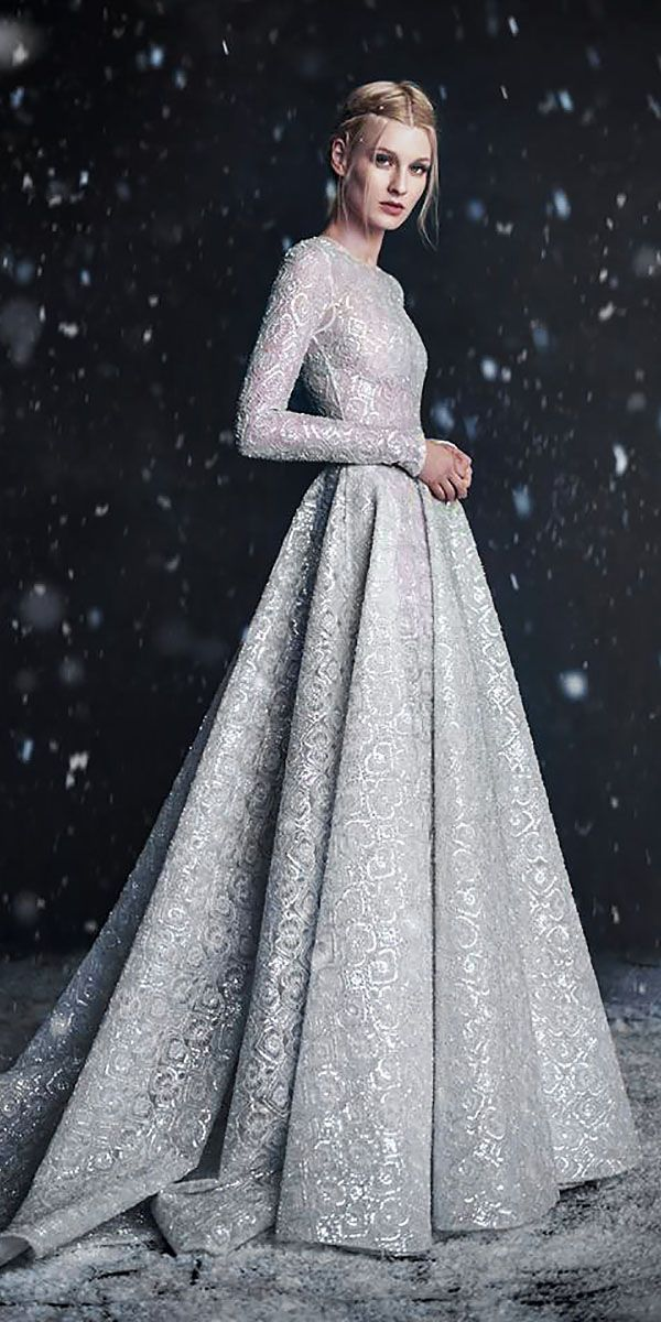 Winter Wedding Dresses And Outfits ❤ See more: http://www.weddingforward.com/winter-wedding-dresses-outfits/ #weddings