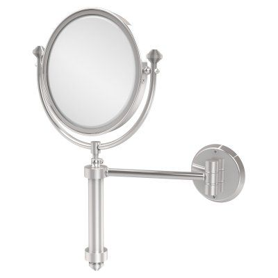 Allied Brass South Beach Wall Mounted Makeup Mirror with 5X Magnification - SB-4/5X-PC