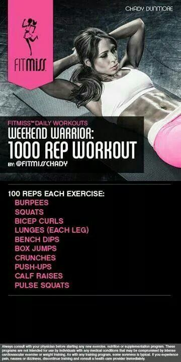 Weekend Warrior: 1000 Rep Workout