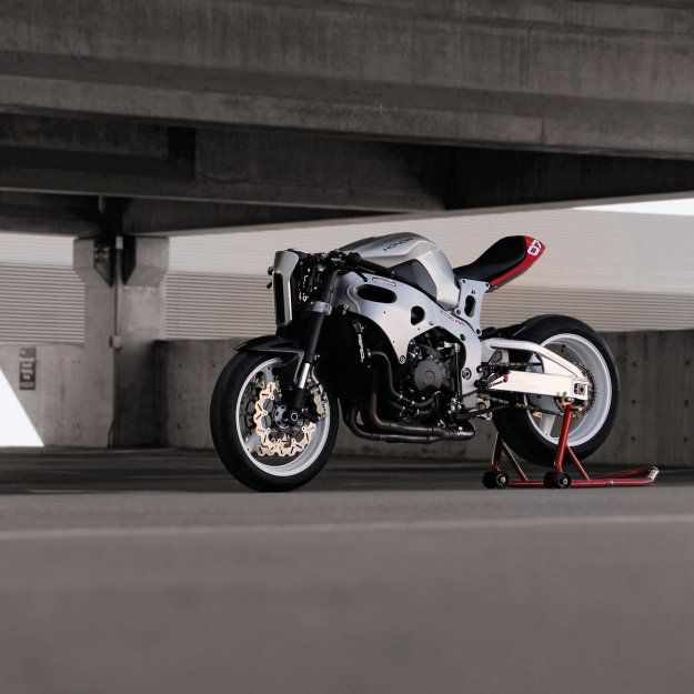 Heavily customized CBR1000RR built by the San Francisco design agency Huge.