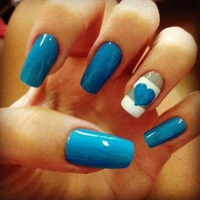 See more Blue nail polish inspirations... click on picture to see more