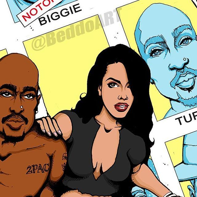 All in the details. Taking my time with the colors for my new classic #ComicBook cover #remix.  #BeddoArt #BeddoComics #BlackComics #BlackArt #AfroFuturism l #hiphopvariants #ripaaliyah #ArtIsLife #HipHopArt #dailyart #sketchdaily #Aaliyah #Tupac #2Pac