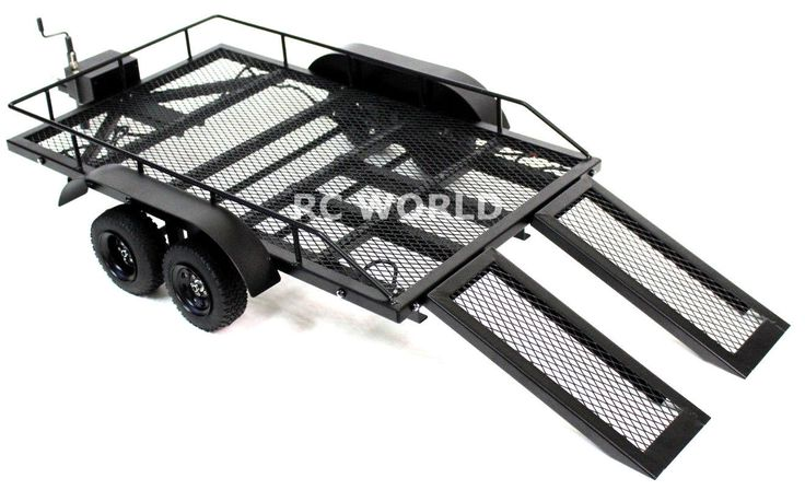 RC Scale Accessories All Metal Dual Axle Trailer w Leaf Suspension 1 10 Scale | eBay
