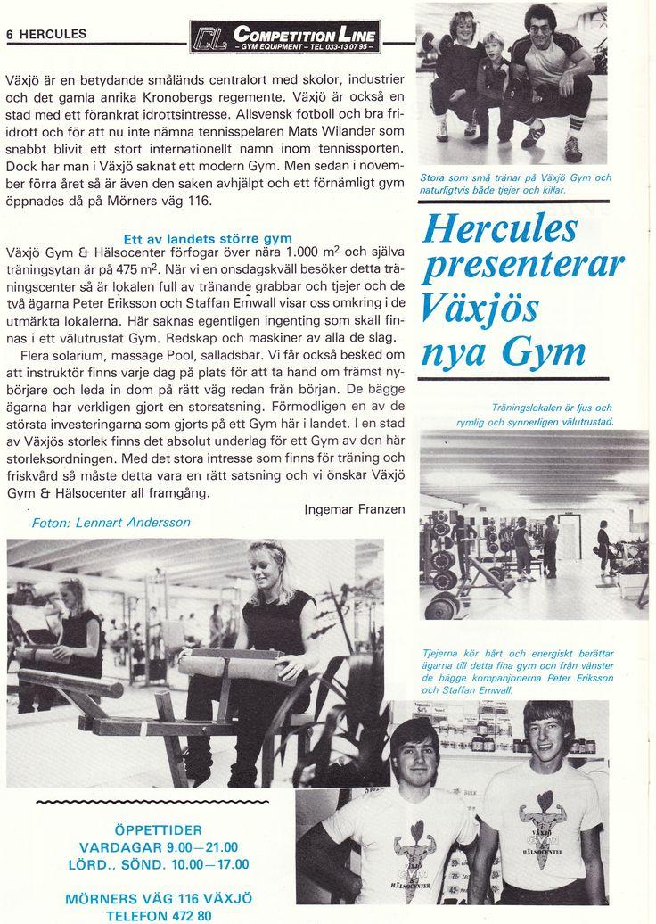 Sweden Växjö - Växjö Gym och Hälsocenter 1983