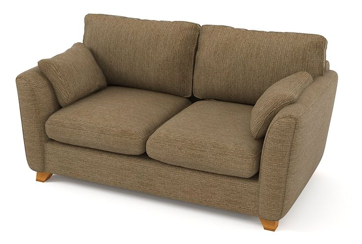 Sofabella Lara 2-Seater Sofa with Linen Style Fabric, 180 x 99 x 88 cm, Sand