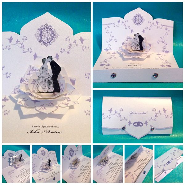 43 best images about 3d wedding invitations on pinterest,