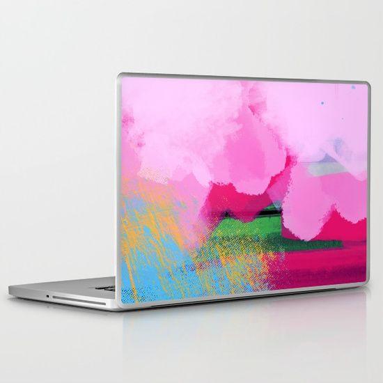 Golden and Pink Abstract Clouds Laptop & iPad Skin #OksanaAriskina #OksanaAriskinaFineArtPhotography #Artworks #FineArtPhotography #HomeDecor #FineArtPrints #FineArtAbstract  #AbstractBackgrunds #ArtForSale  #Pink #Yellow #Gold #Clouds #Abstract #Blue #Pink #Distort #Laptop #iPad