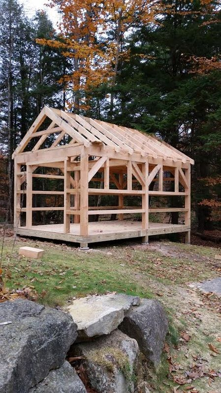 Projects - Campbell Timberworks  Timber frame shed