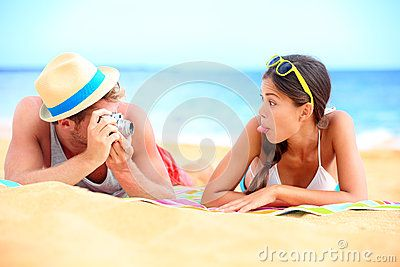 Young Couple Having Fun On Beach - Download From Over 50 Million High Quality Stock Photos, Images, Vectors. Sign up for FREE today. Image: 29132627