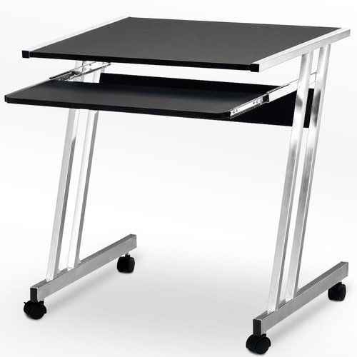 Small Office Desk Computer Study School Work Station Table PC Table Modern Black