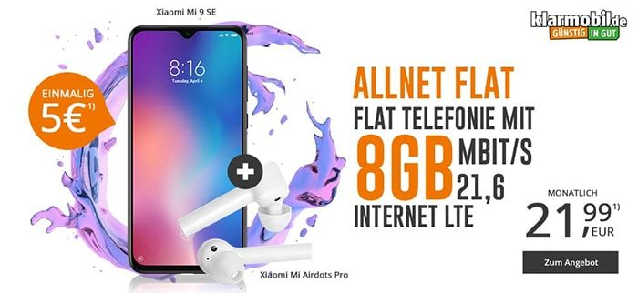 8gb Klarmobil Allnet Flat Ab 24 99 Stand August 2020 Handyvertrag Telefonie Telekom