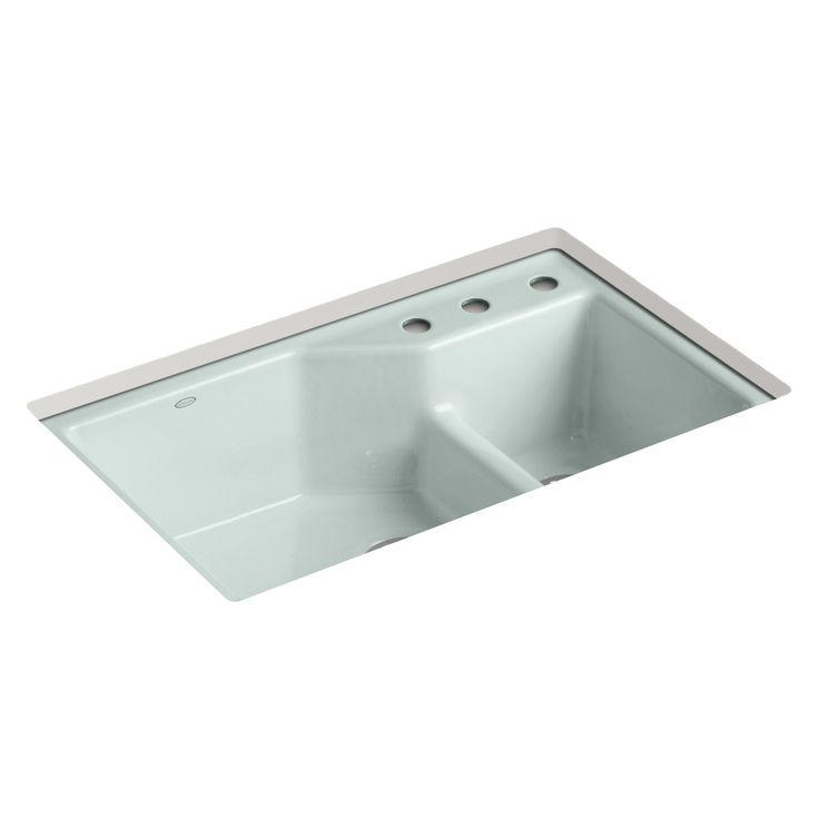 Under-Mount Smart Divide Large/Small Double-Bowl Kitchen Sink ...
