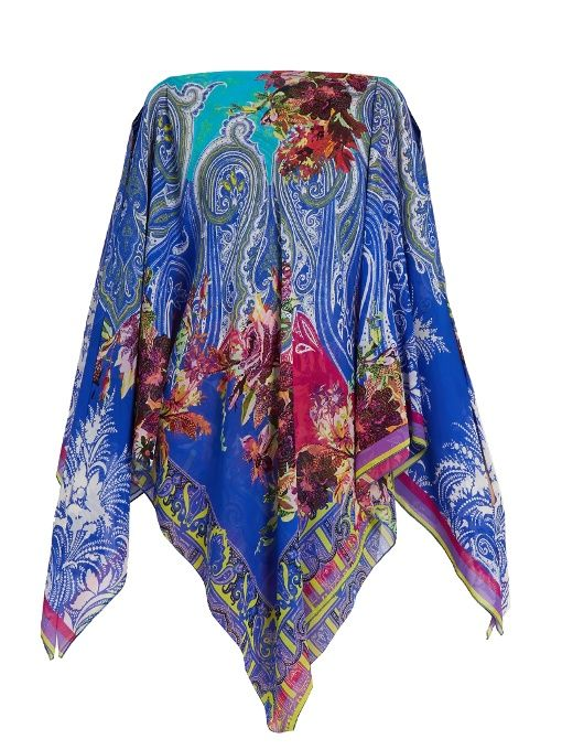 ETRO Floral and paisley-print silk-crepe cover-up. #etro #cloth #cover-up