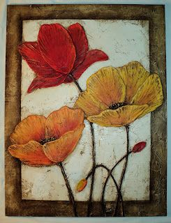 PYN ART: Cuadros Florales Texturados