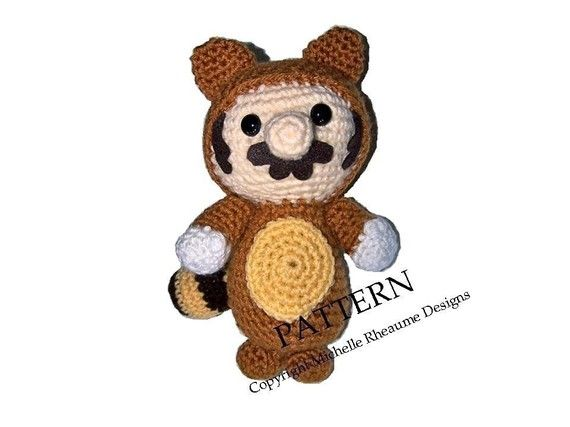 PATTERN Tanooki Mario Crochet Pattern by michellerheaume on Etsy, $5.00
