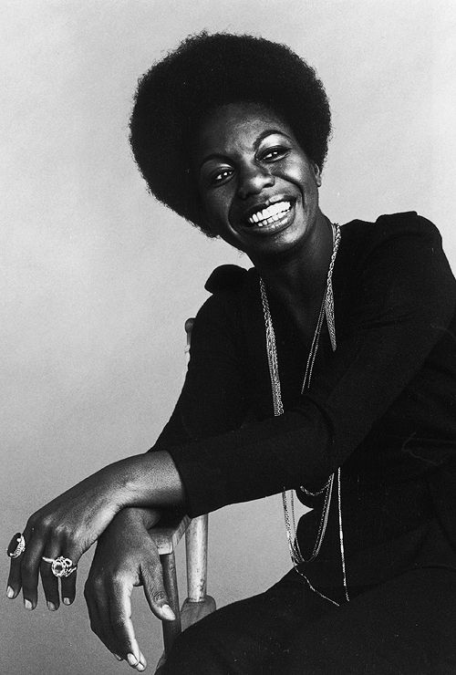 Nina Simone (1933-2003) - American singer, songwriter, pianist, arranger, and civil rights activist widely associated with jazz music. Photo by Jack Robinson, 1969.