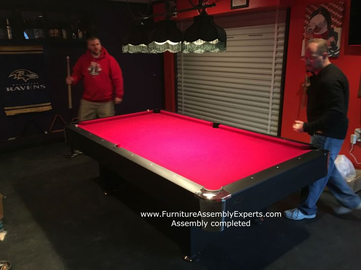 Billiard pool table assembly and installation specialist in Washington DC - Maryland - Virginia - Delaware - Philadelphia.  check out this Mizerak pool table assembled for a customer in southern Maryland Call 240-764-6143 to get yours assembled or book service online at  Same day service - Next day service