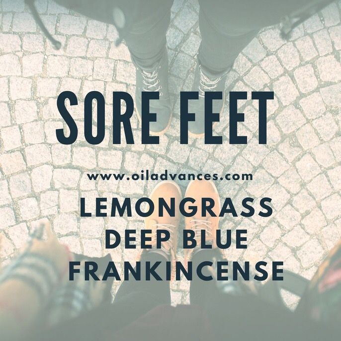 Ease those sore feet by layering lemongrass, frankincense and doTERRA Deep Blue or mix them together with Fractionated Coconut Oil in a roller bottle to keep on hand.