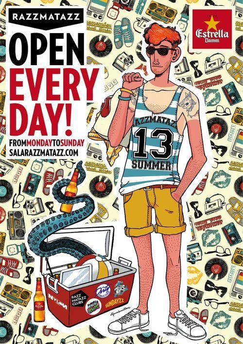 """cartel verano """"Razz Open Everyday"""". 2013"""