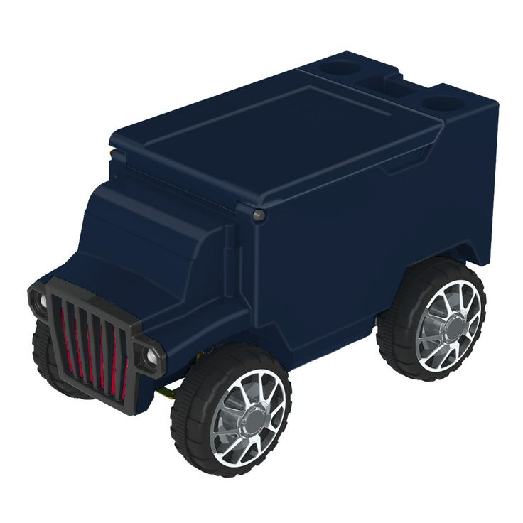 Navy/Navy RC Truck Cooler w/ Bluetooth Speakers