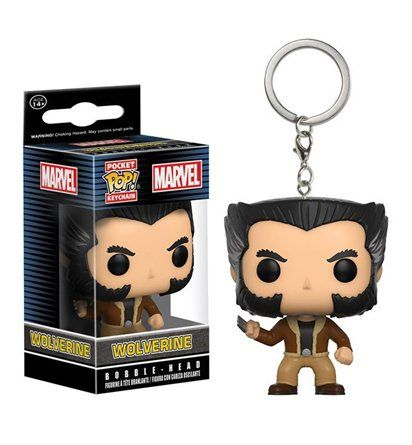 The Wolverine Logan Funko Pocket Pop Keychain is a cute little version of Hugh Jackman's last run as Wolverine! Well, as far as we know. Might as well come see!