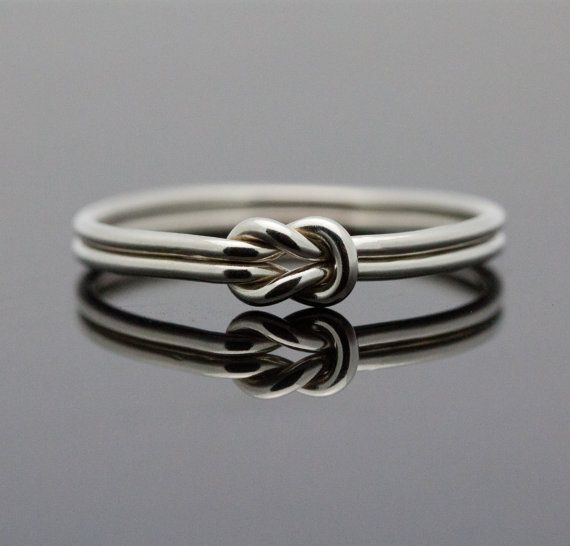 Hug Infinity ring. Sterling Silver knot ring  Nautical ring Promise ring Purity ring sailor knot