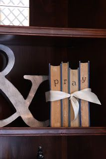 cute decoration with old books