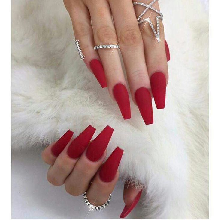 Red coffin shape with matte