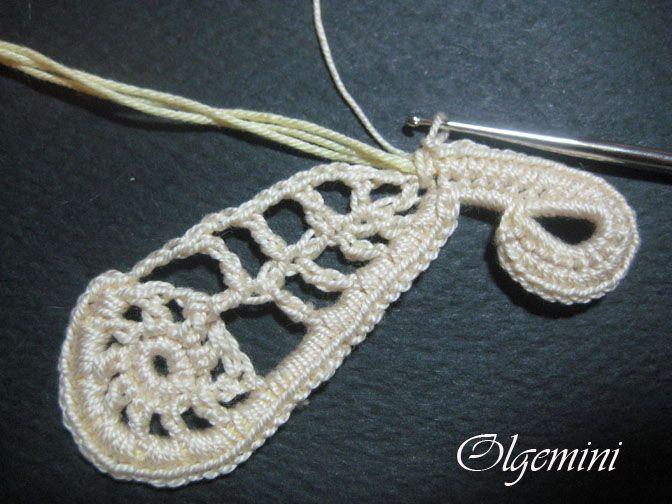 OLGEMINI: how to crochet a paisley
