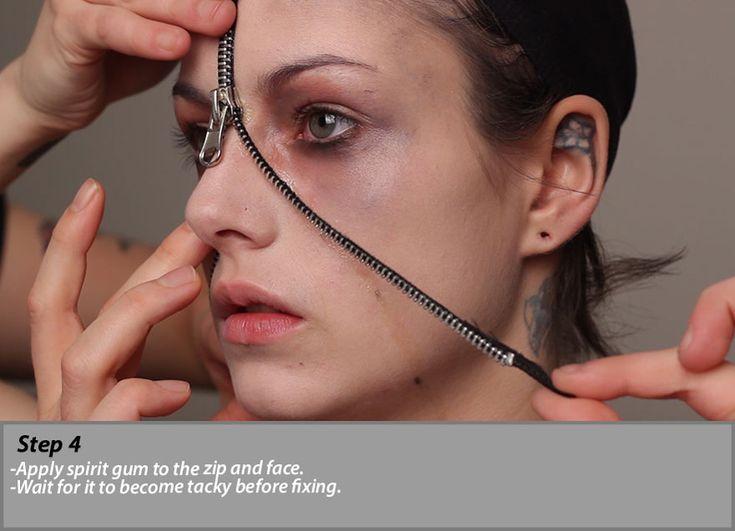 Zipper Face Make Up Step 4