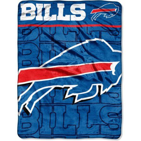 NFL Buffalo Bills 46 inch x 60 inch Micro Raschel Throw, Multicolor