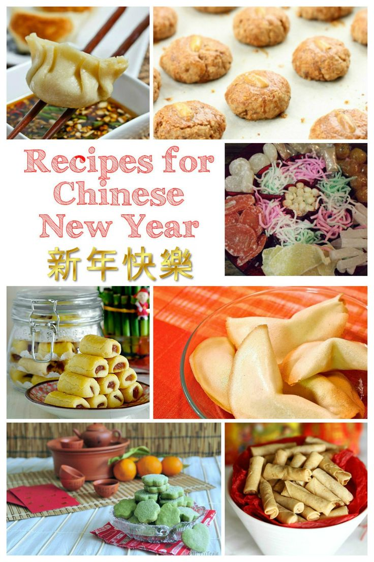 Recipes for Chinese New Year food, cookies and treats