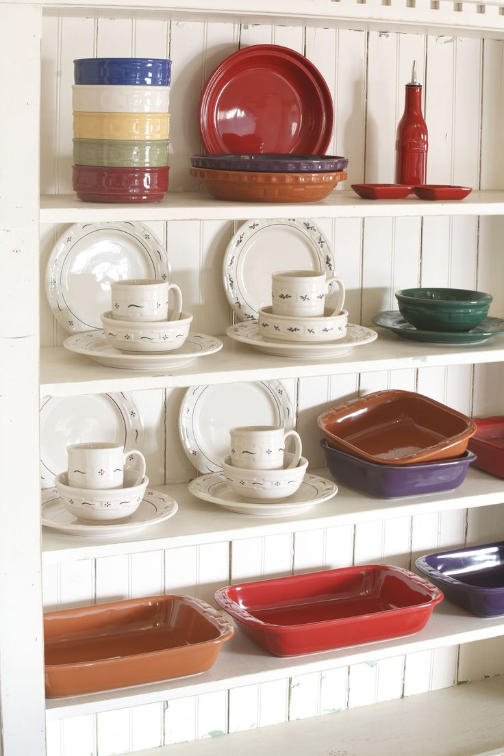 33 best Longaberger Pottery images on Pinterest | Dishes, Basket and ...