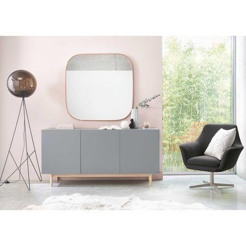 Affordable miroir carr en mtal cuivr xcm barbara maisons Miroir cargo maison du monde