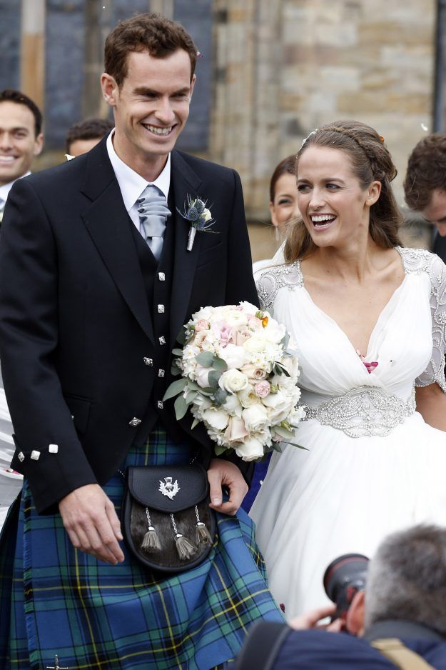 Andy Murray and Kim Sears after their wedding on April 11, 2015