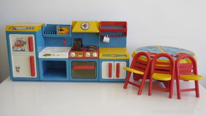 Cocina Molto Muebles De Cocina Comedor Nevera Horno Y Fregadero Juguetes Vintage Anos 80 Juguetes Muebles De Cocina Muebles