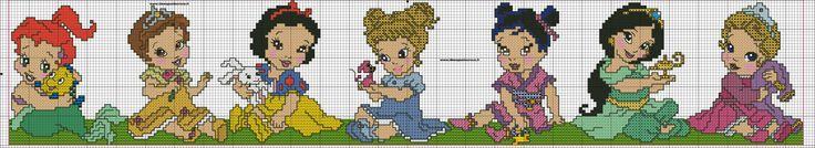 schema bordura baby principesse disney h 50 punti