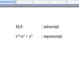 Teks Subscript dan Superscript di Blog   Republic Of Note