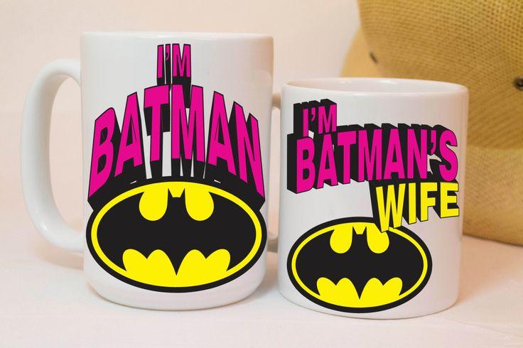 I'm batman and i'm batman's wife,couples gift,Husband gift,his and hers,funny mugs,funny coffee mugs,custom mugs,personalized coffee mug,mug by MugAndBeanCo on Etsy