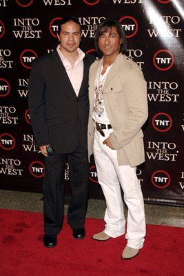 George Leach and Jay Tavare at event of Into the West