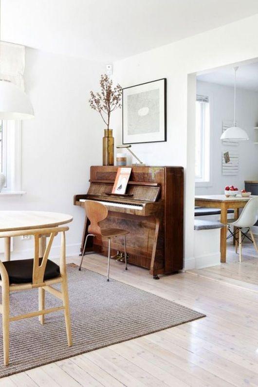 minimalist home decor with piano / sfgirlbybay