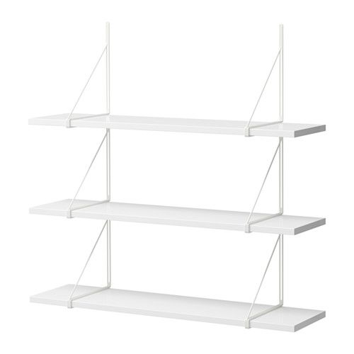 as seen at kristina's place.  awesome with natural wood replacement shelves. IKEA - EKBY TONY/EKBY GÄLLÖ, Wall shelf,
