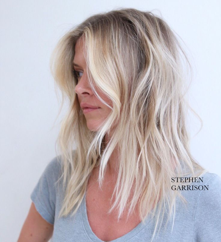 Dreamy Blonde Lob Sghaircolor Com Stephen Garrison Pretty Hair Blonde Hair Messy Look Lob