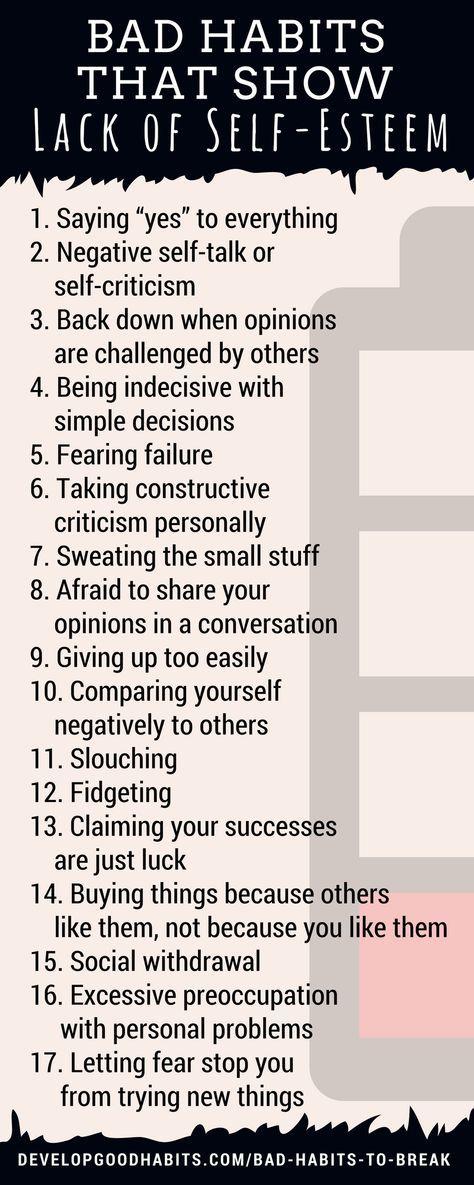 Bad habits that show a lack of self-esteem