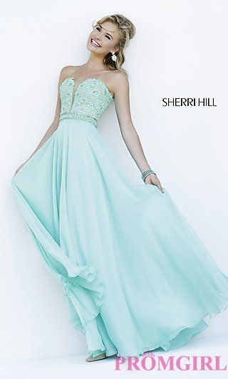 Long Strapless Sweetheart Formal Gown by Sherri Hill at PromGirl.com