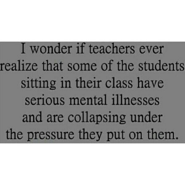 I wonder if my teachers ever notice that.